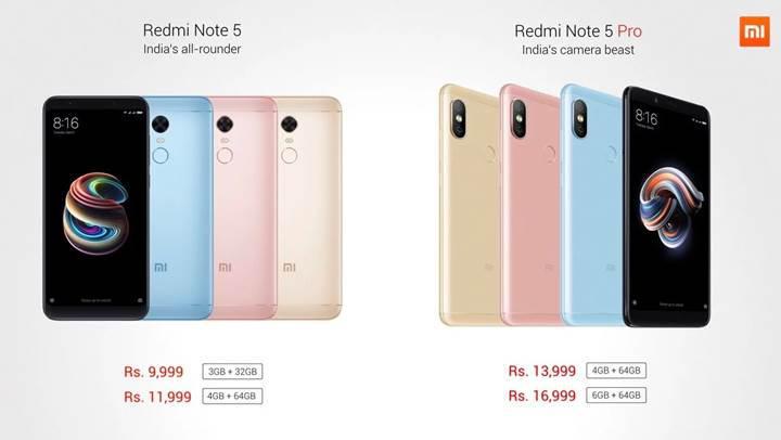 Xiaomi Redmi Note 5 serisi artık resmi