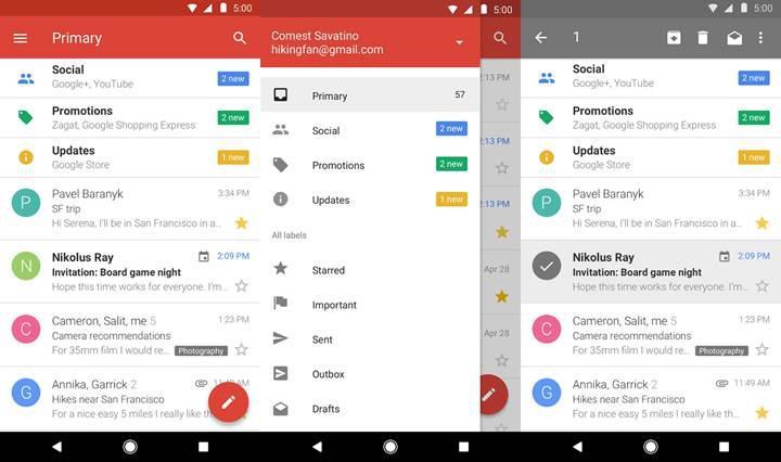 Düşük performanslı cihazlar için geliştirilen Gmail Go uygulaması artık indirilebilir