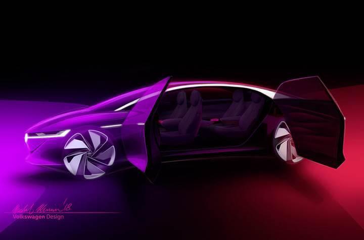 Volkswagen ID Vizzion konsept sesle kontrol ediliyor