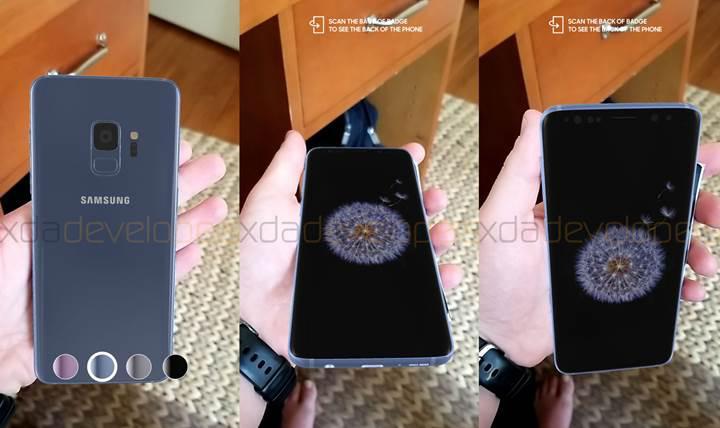 Samsung'un UNPACKED 2018 uygulaması Galaxy S9'un tasarımını ortaya çıkardı