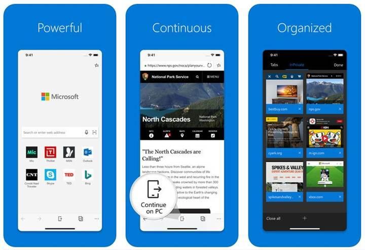 Microsoft Edge'in iOS sürümüne 3D Touch desteği geldi