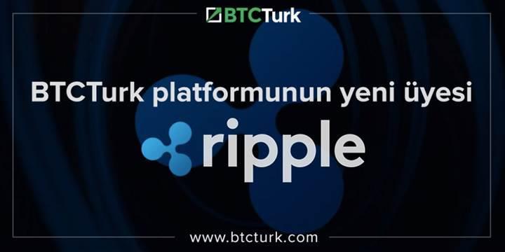 Ripple, BTCTürk'te 3 günde 3 milyon dolarlık hacme ulaştı