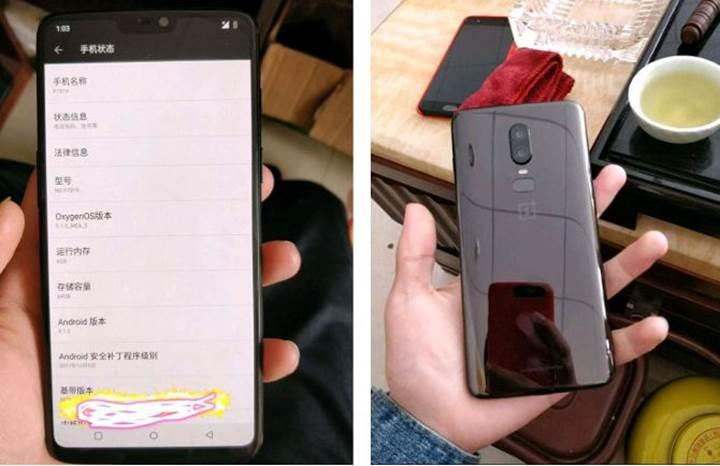 OnePlus 6'nın görüntüleri paylaşıldı