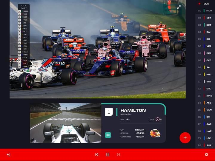 Formula 1 canlı akış hizmeti F1 TV'yi duyurdu