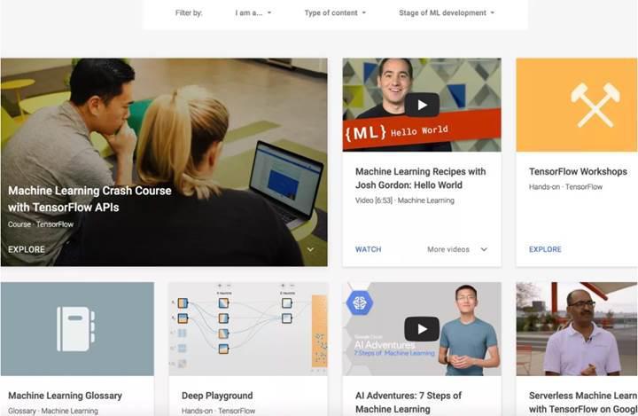 Google çevrimiçi yapay zekâ eğitimlerine başlıyor