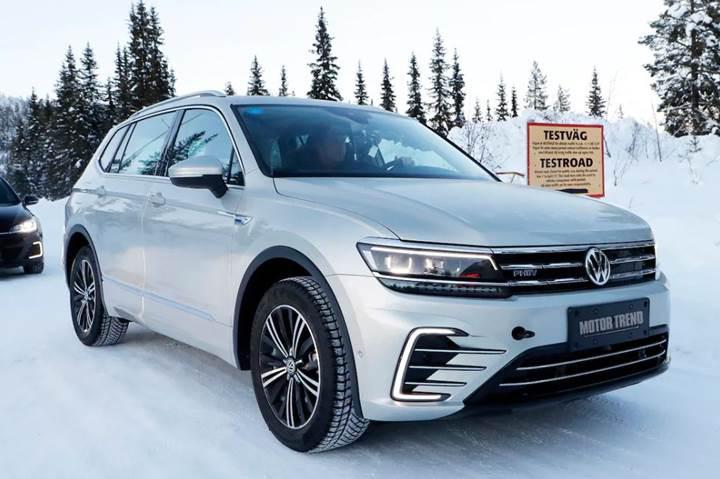 Volkswagen Tiguan hibrit, kış testlerinde görüntülendi