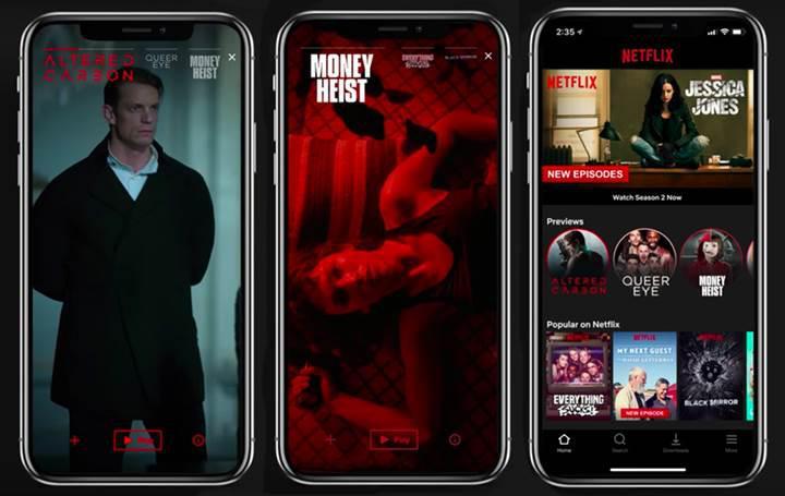 Netflix mobil uygulamalarına video önizleme özelliği getireceğini duyurdu