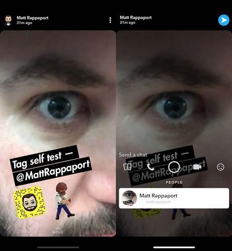 Snapchat, hikayelere kişi etiketleme özelliği getireceğini duyurdu