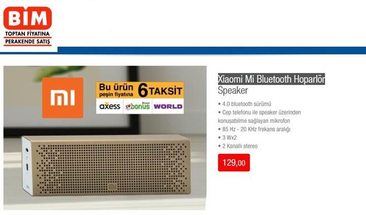 BİM, Xiaomi Mi Bluetooth Hoparlör satacak