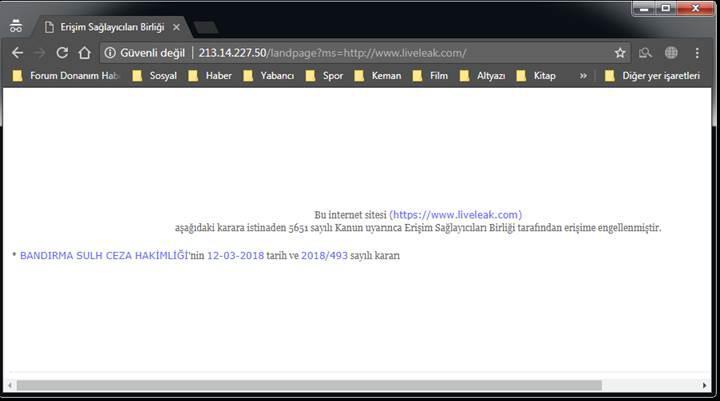 LiveLeak.com'a erişim yasağı!