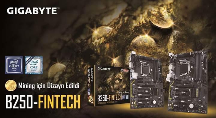 Madenciler için 12 ekran kartına destek sunan Gigabyte GA-B250-FinTech anakart