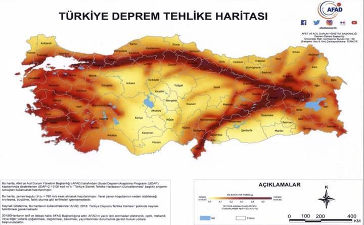 Türkiye Deprem Tehlike Haritası, 22 yılın ardından yenilendi