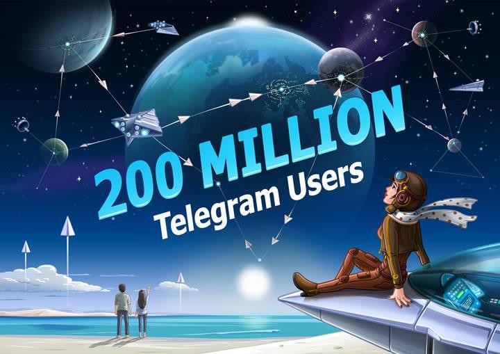 Telegram aylık 200 milyon aktif kullanıcıya ulaştı