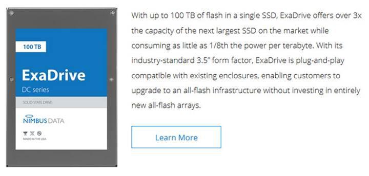 Nimbus'tan 3.5 inçte rekor SSD kapasitesi