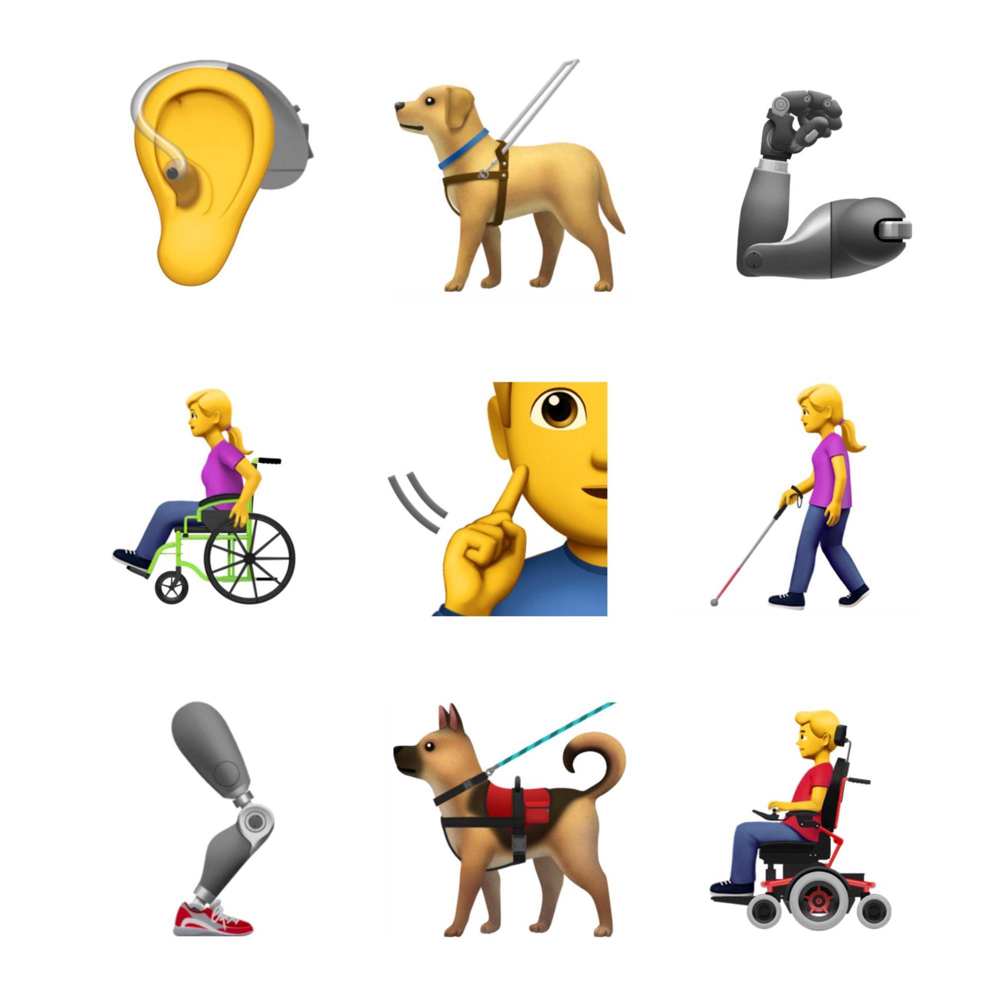 Apple, engelli bireyler için yeni emoji önerileri sundu