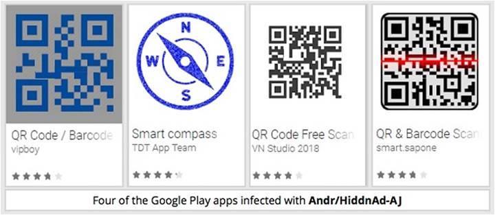 Google Play'de yer alan QR kod uygulamalarında virüs tespit edildi