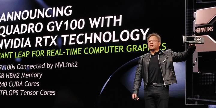 Volta tabanlı Nvidia Quadro GV100 duyuruldu