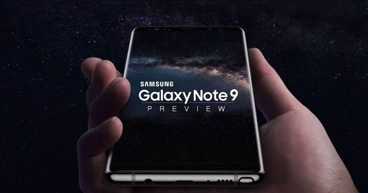 Samsung, Galaxy Note 9'u erkenden piyasaya sunmaya hazılanıyor