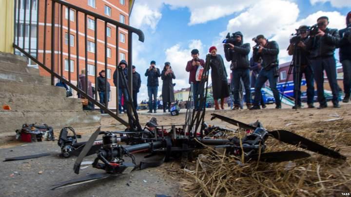 Rusya'nın teslimat drone'u ilk uçuşunda kaza yaptı