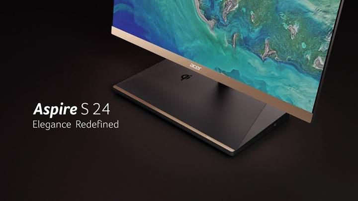Acer kablosuz şarj özellikli ultra ince AIO masaüstü bilgisayarını duyurdu