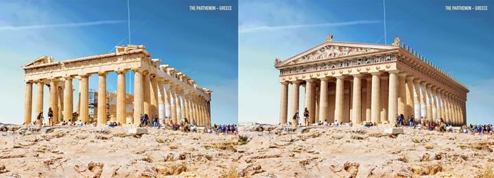 Harabe halinde olan 7 tarihi yapının orijinal görüntüsü oluşturuldu