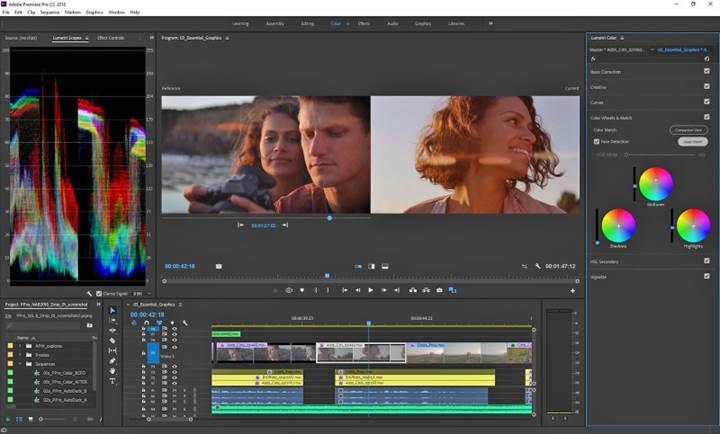 Adobe Premiere Pro'ya otomatik renk eşleştirme ve fon müziği kısma özellikleri geldi