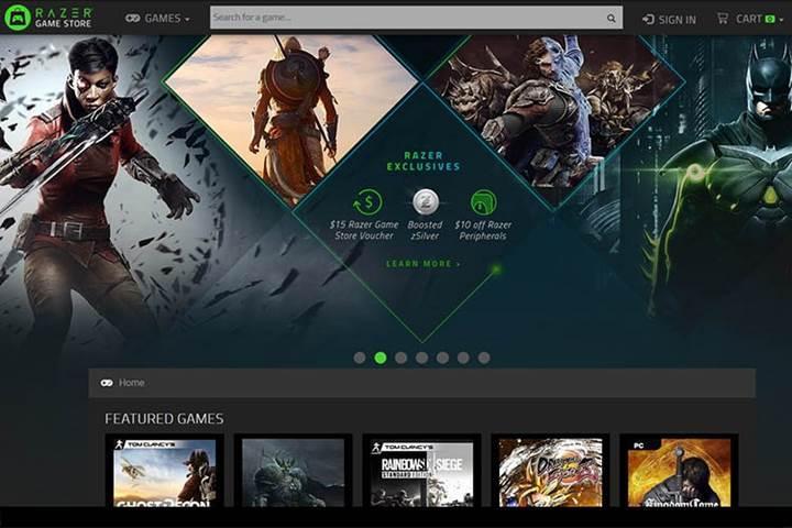 Razer dijital oyun mağazasını hizmete açtı