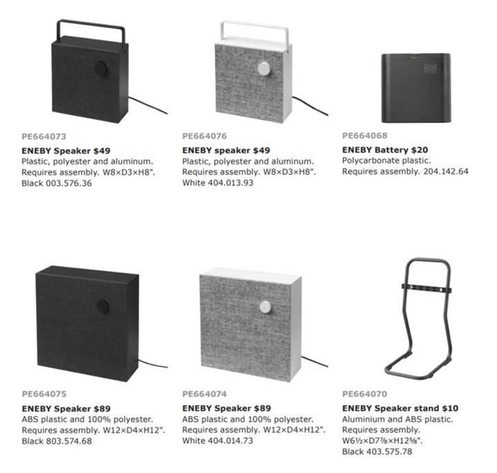Ikea Eneby kablosuz hoparlörler karşınızda