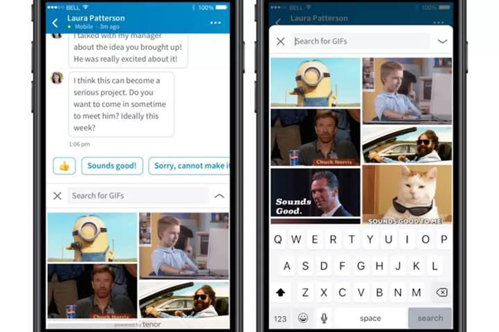 LinkedIn Messenger'a GIF desteği geldi