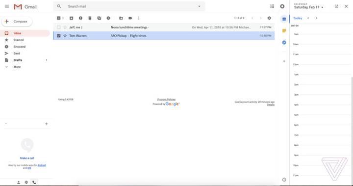 Gmail'in yeni tasarımına ait görüntüler sızdırıldı