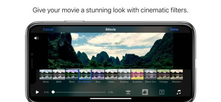 iOS iMovie'ye iPhone X desteği geldi