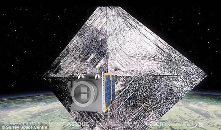 Avrupa'nın prototip uydusu, 'uzay çöplerini' işte böyle yakalayacak