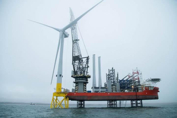 Dünyanın en güçlü rüzgar türbini İskoçya'da kuruldu