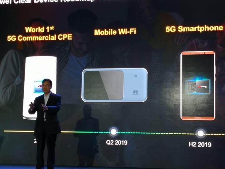 Huawei'nin ilk 5G destekli telefonu 2019'un üçüncü çeyreğinde gelecek