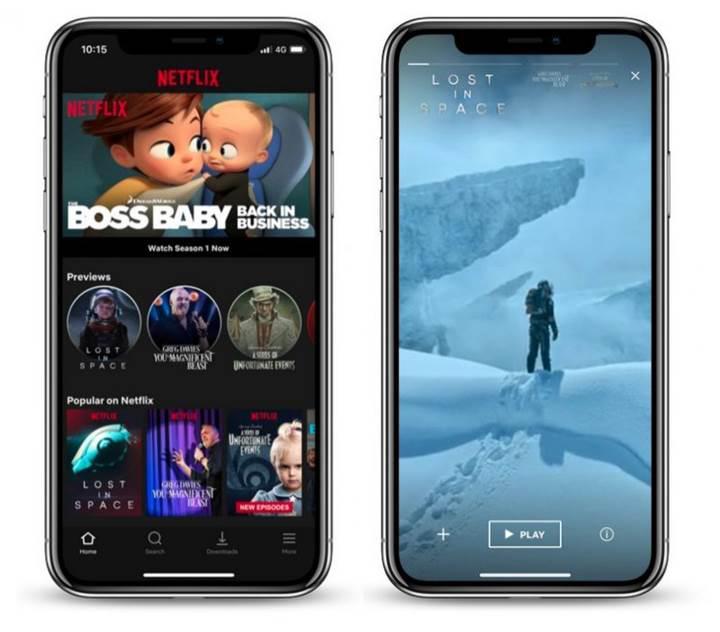 Netflix ön izleme özelliği iOS uygulamasında başladı