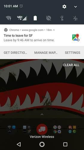 Google'ın önerilen yola çıkma saati bildirimleri çalışmıyor