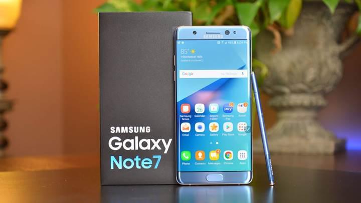 Vukuatlı telefon Samsung Galaxy Note 7'den haber var