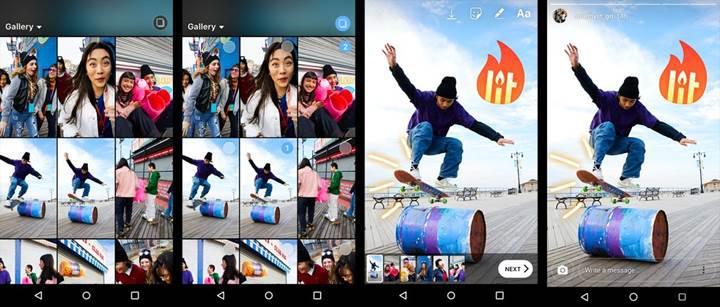 Instagram Hikayelerine artık aynı anda birden fazla fotoğraf ve video yüklenebiliyor