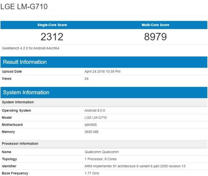 LG G7 ThinQ performansı