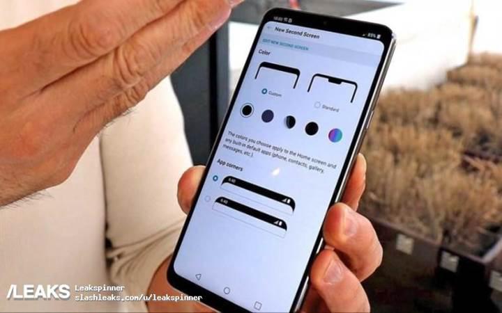 LG G7 ThinQ modelinin yeni ikinci ekran menüsü sızdırıldı