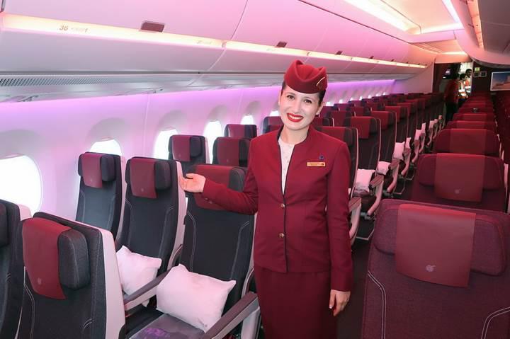 Katar'ın sadece bir tane üretilen otel konforundaki uçağı [Galeri]