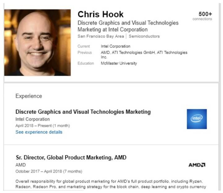 AMD'den Chris Hook da Intel'e katıldı