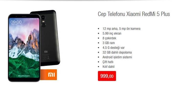 Xiaomi Redmi 5 Plus uygun fiyatıyla BİM'e geliyor