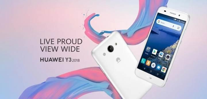 Huawei Y3 Android Go telefonu resmiyet kazandı