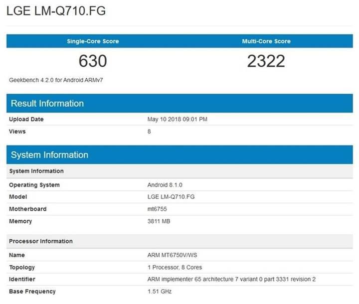 LG Q7 modelinde MediaTek izleri
