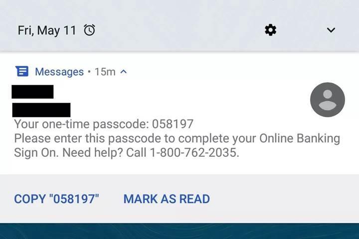 Android SMS uygulaması, gelen doğrulama kodlarını tanıyacak