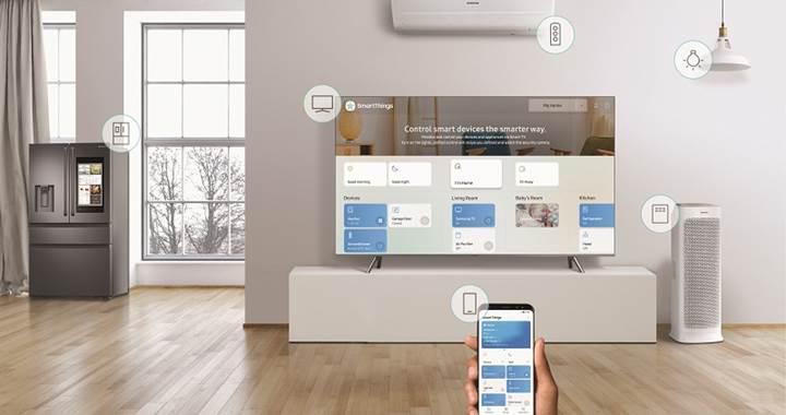 2018 model Samsung QLED televizyonlar SmartThings ile destekleniyor