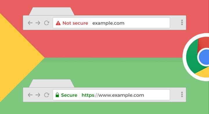 Chrome, artık HTTPS protokolü kullanan sitelere 'Güvenli' ibaresi eklemeyecek