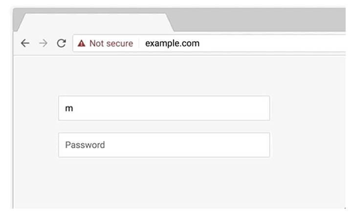 Chrome, artık HTTPS protokolü kullanan sitelere