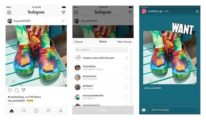 Instagram'a çok beklenen gönderi paylaşım özelliği geldi